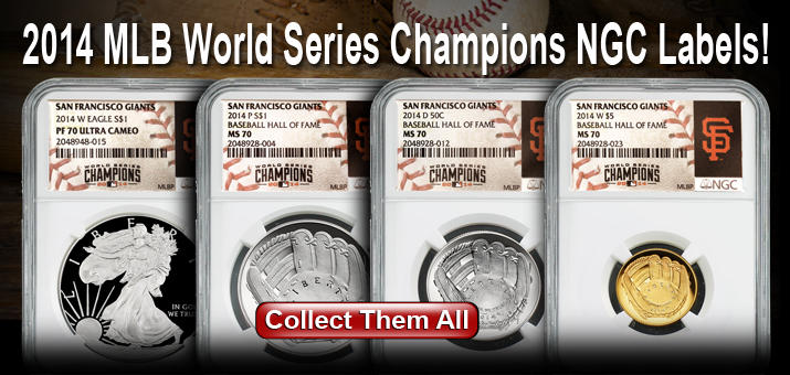 2014 NGC MLB World Series Champions Labels - SF Giants Win!