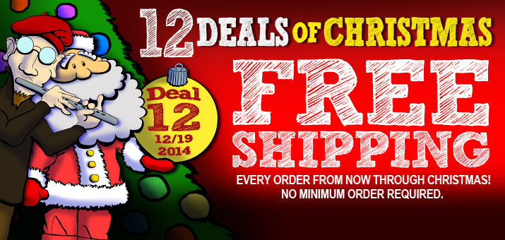12 Deals of Christmas 2015 - Deal 12 - Sitewide Flat Rate Free Shipping in US