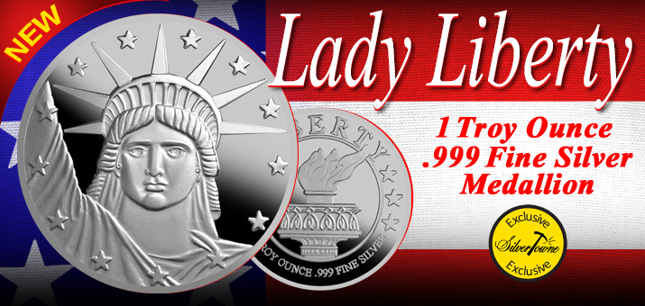 New Lady Liberty .999 Silver Medallions