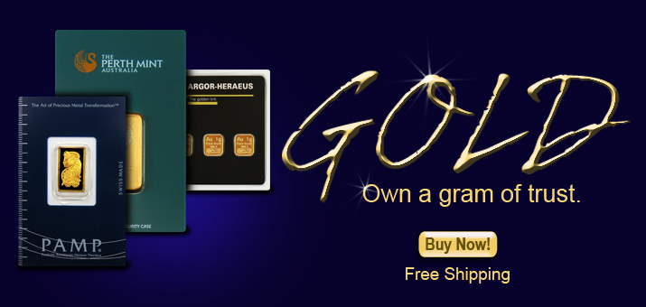 Gold Bars - Own 'GRAMS' of Trust