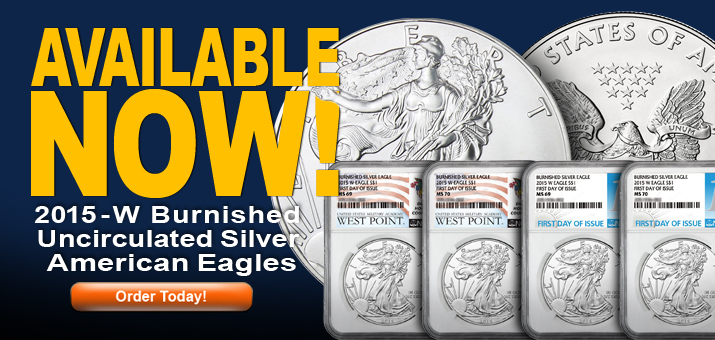 2015 W Burnished Silver American Eagles