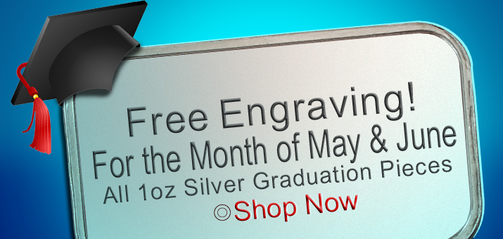 Free Engraving on 2015 Silver Graduation Pieces!