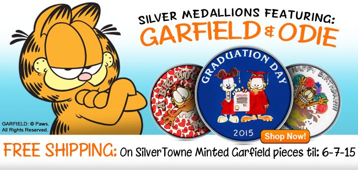 SilverTowne Minted Garfield ©PAWS Designs
