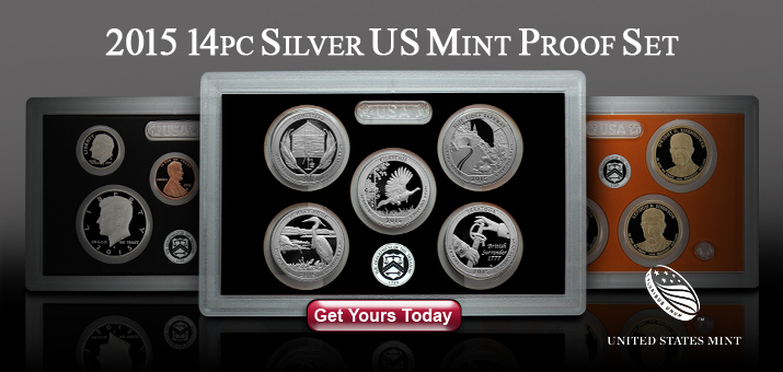 2015 S 14pc Silver Proof Set Now Available!