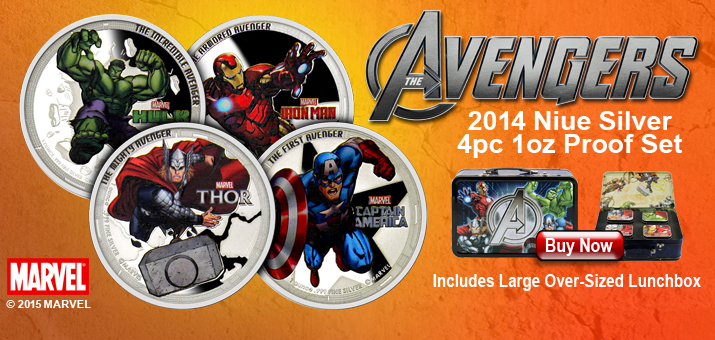 Avengers 4pc Silver Bar Set!