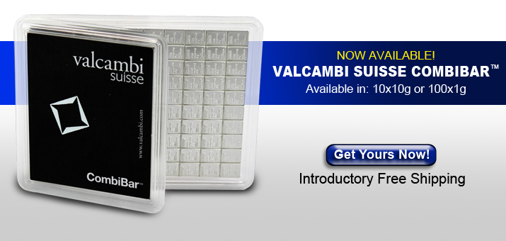 Valcambi Suisse CombiBar Free Shipping For a Limited Time!