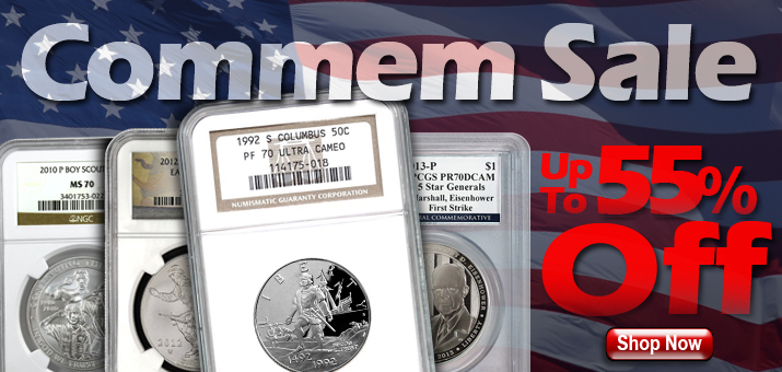 Certified Commemorative Clearance Sale