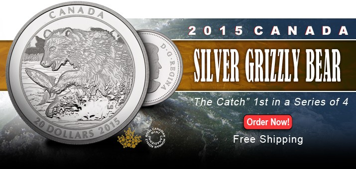 2015 Canada Grizzly Bear Series - The Catch - First Release in a Series of Four