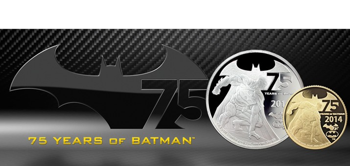 75 Years of Batman 2ox Silver Proof Coin in OGP