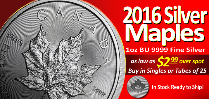 2016 Canadian Silver Maple Leafs Are In and Ready To Ship!