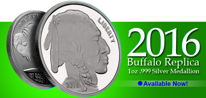 2016 Buffalo Replica 1oz .999 Fine Silver Rounds Now Available!