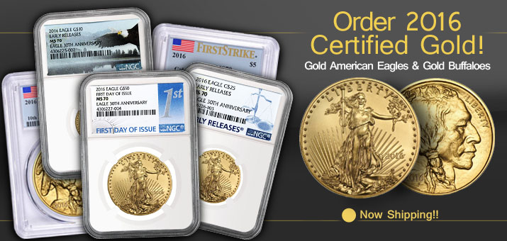 Order Certified 2016 Gold Eagles & Buffaloes