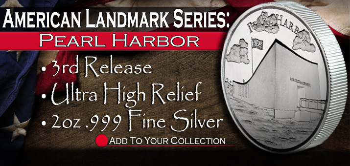 New American Liberty Series: Pearl Harbor 2oz Silver UHR Rounds!