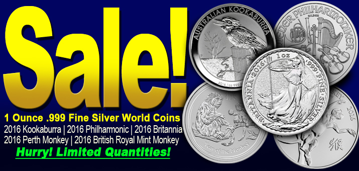 Limited Quantities Sale on 2016 World Silver Bullion!
