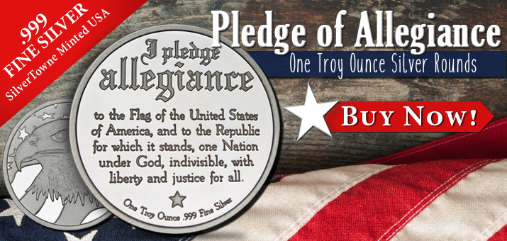 Pledge of Allegiance 1oz Silver Rounds