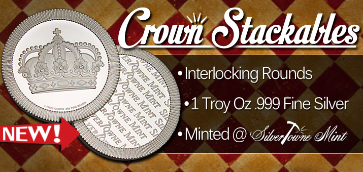 New Release! 1oz Crown Stackables!