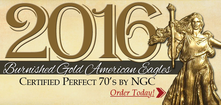 2016 W Burnished Gold American Eagles