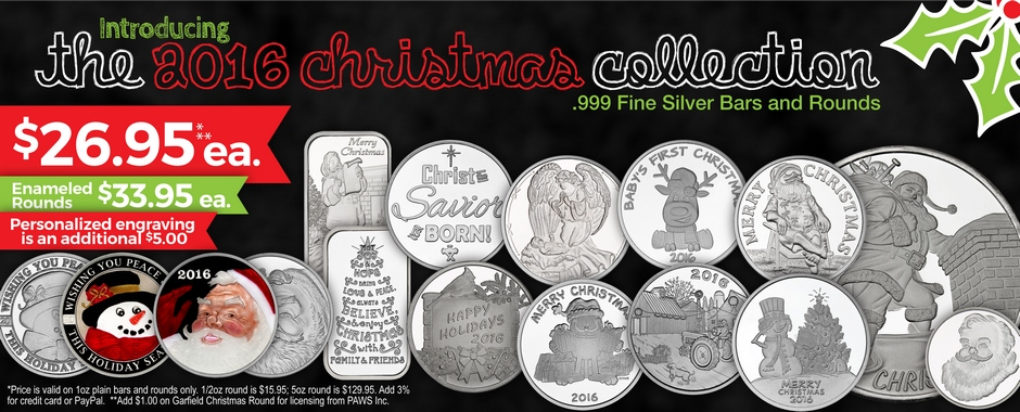 2016 1oz Silver Christmas Themed Bullion!