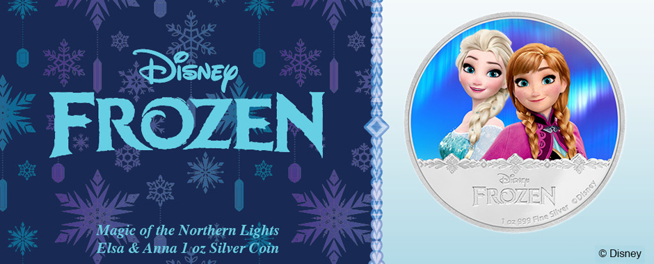 New FROZEN Silver Coin - Anna and Elsa