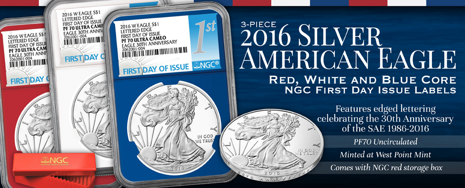 Now Available! 2016 Proof SAE FDI Red White Blue Set!