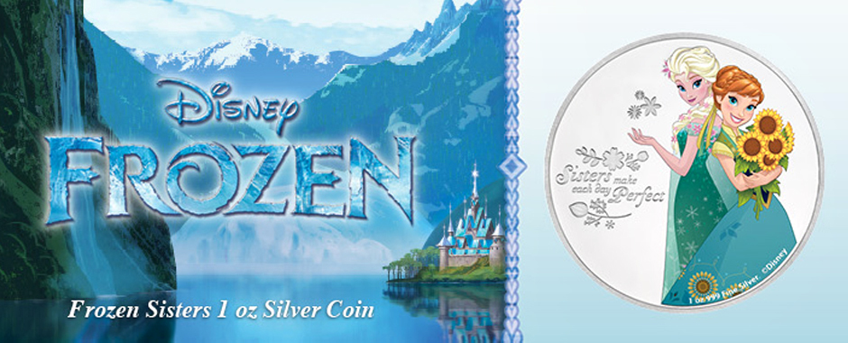 New FROZEN Silver Coin - Sisters: Anna and Elsa