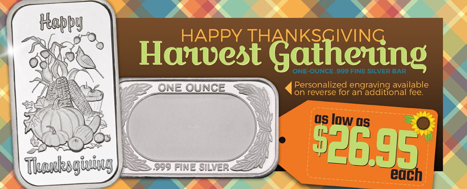 SilverTowne Thanksgiving Silver Now Available!