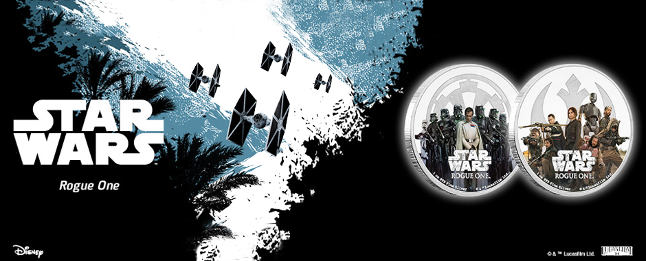 New Star Wars Rogue One Silver Coins Now Available!