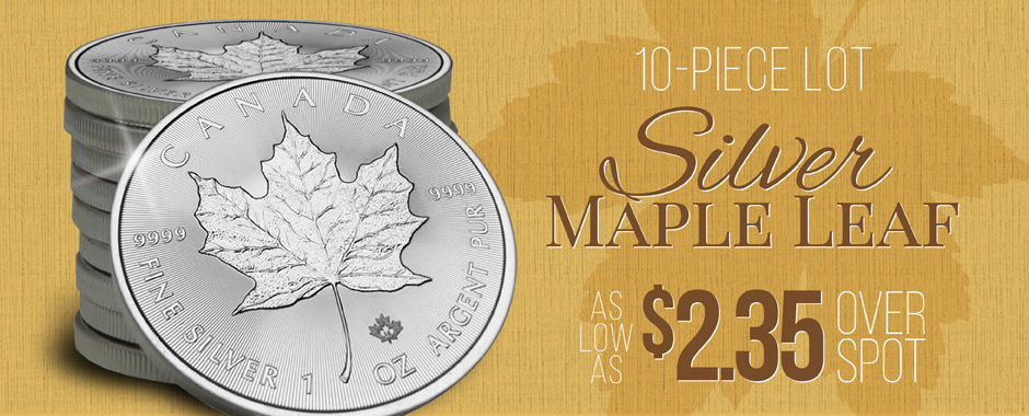 10pc 2016 Silver Maple Leafs As Low As $2.35 Over Spot!