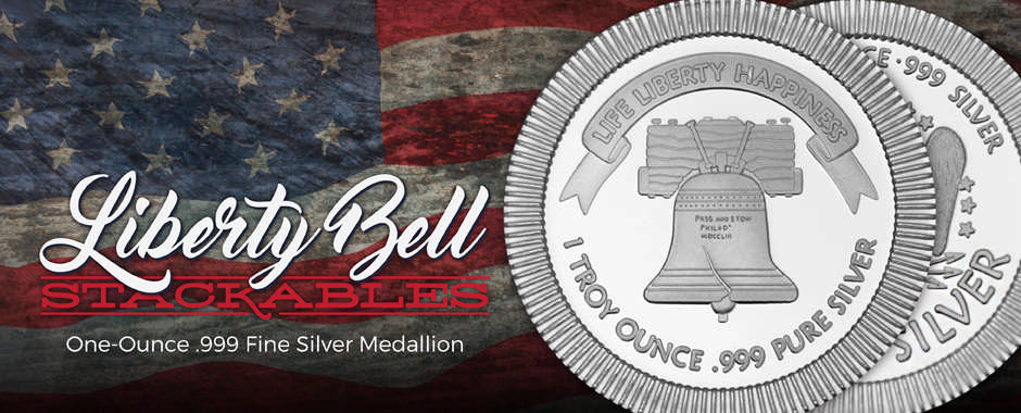 SilverTowne Minted Liberty Bell 1oz Stackable Medallions