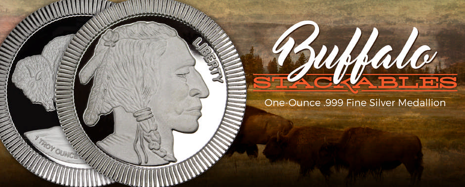 Newest SilverTowne Minted Buffalo Replica Stackable Medallions