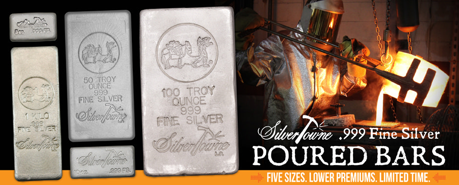 Lowered Premiums Poured Silver Bars - Limited Time!