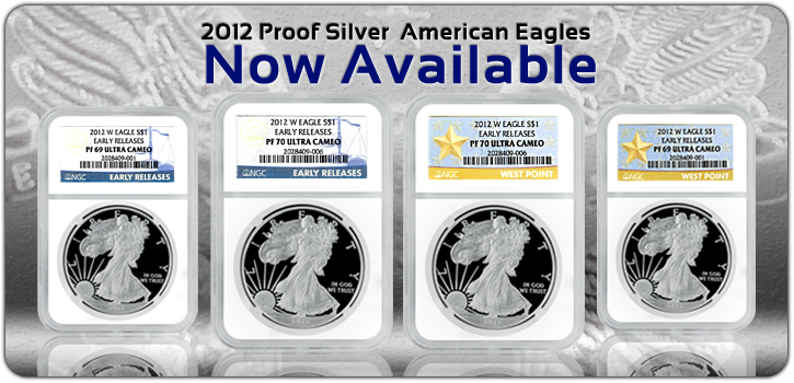 2012 Proof Silver American Eagles