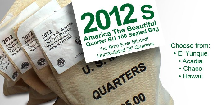 Bags of ATB (America The Beautiful) Quarters