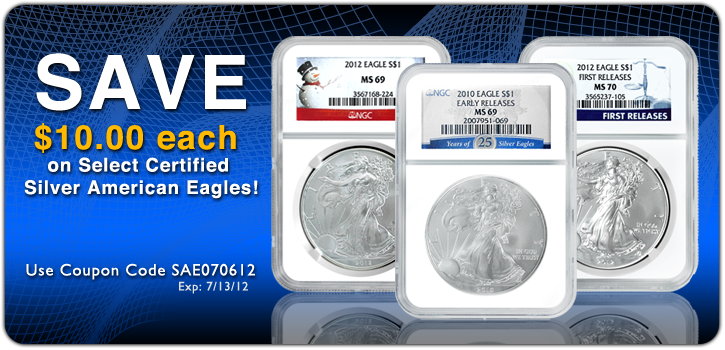 Certified Silver American Eagles