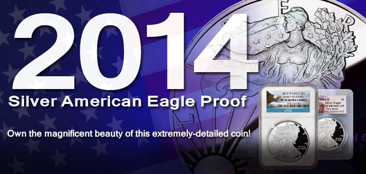 2014 Proof Silver American Eagles