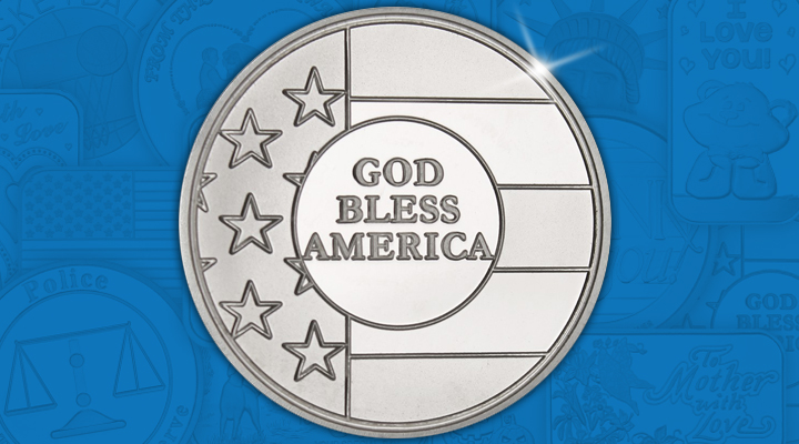 God Bless America 1oz Silver Medallion - September Silver Of the Month