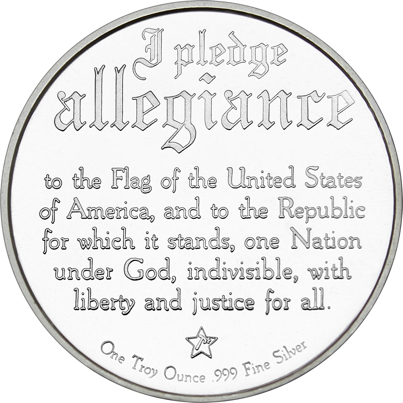 Silvertowne Pledge Of Allegiance Eagle 1oz 999 Silver Lot