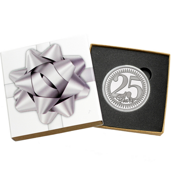 25th Anniversary 1oz .999 Silver Medallion Dated 2017