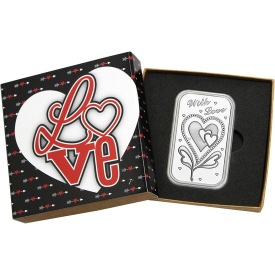 With Love 1oz .999 Silver Bar
