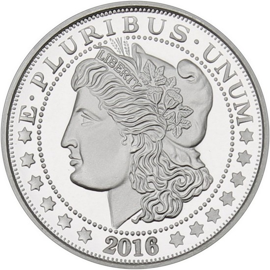 2016 Morgan Dollar Replica 1oz .999 Silver Medallion