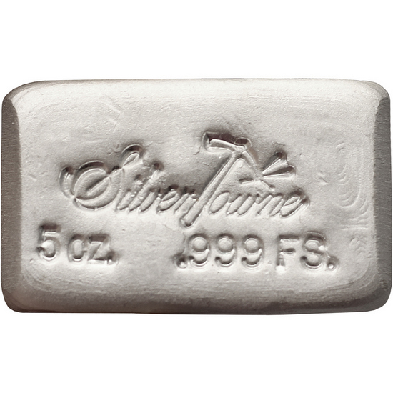 SilverTowne Poured 5oz .999 Silver Bar