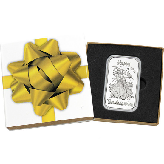 Happy Thanksgiving Harvest Gathering 1oz .999 Silver Bar