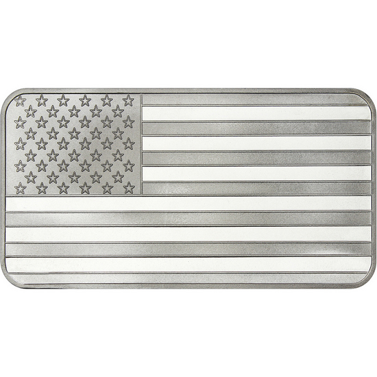 American Flag 10oz .999 Silver Bar