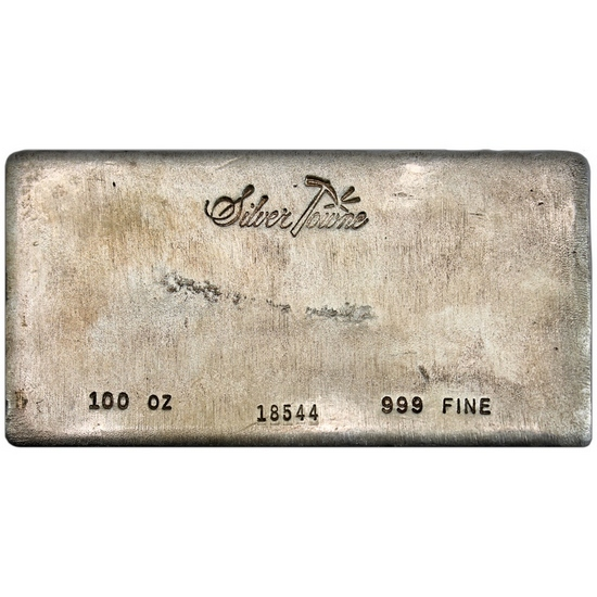 Secondary Market - SilverTowne Trademark Poured 100oz .999 Silver Bar