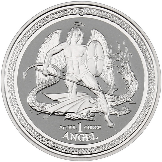 2016 Isle of Man Silver Lucky Angel 1oz Reverse Proof