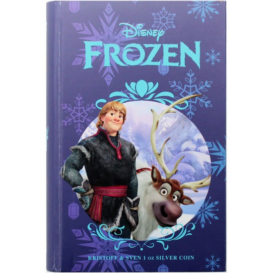 2016 Niue Silver Disney Frozen - Magic of Northern Lights: Kristoff and Sven 1oz Colorized Proof in OGP