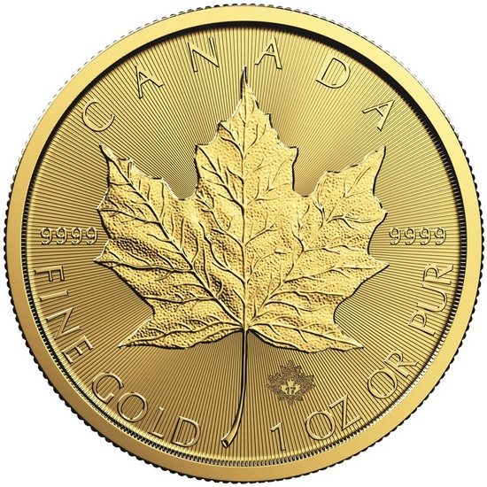 2017 Canada Gold Maple Leaf 1oz BU