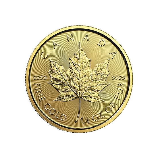 2017 Canada Gold Maple Leaf 1/4oz BU