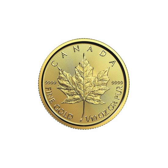 2017 Canada Gold Maple Leaf 1/10oz BU