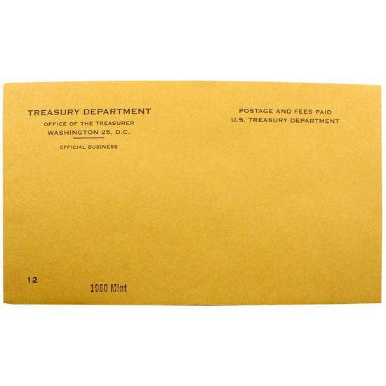 1960 OGP Envelope for United States Mint Uncirculated Coin Set